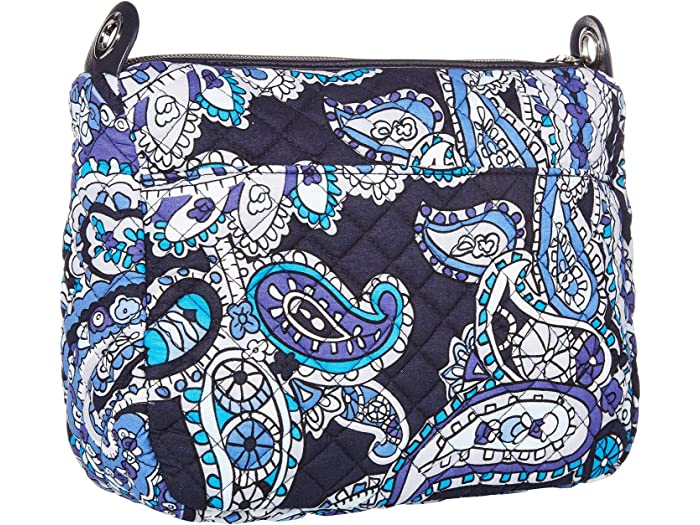 Vera Bradley Carson Mini Shoulder Bag Deep Night Paisley Handbags