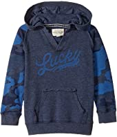 Lucky Brand Kids - Long Sleeve V-Neck Camo Hoodie (Toddler)