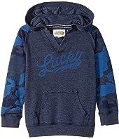 Lucky Brand Kids - Long Sleeve V-Neck Camo Hoodie (Toddler)