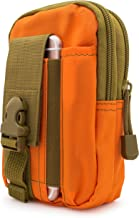 Bastex Universal Multipurpose Tactical Smartphone Orange w/Army Green Holster EDC Security Pack Carry Pouch Belt Waist Bag Gadget Money Pocket for iPhone 6s Samsung Galaxy S7 Note5 LG G5 iPhone 7