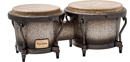 Tycoon Percussion 7 Inch & 8 1/2 Inch Master Platinum Fade Series Bongos