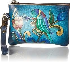 Anna by Anuschka Hand Painted Leather | Medium Organizer Pouch / Coin Purse