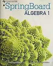 Best springboard algebra 1 texas edition Reviews