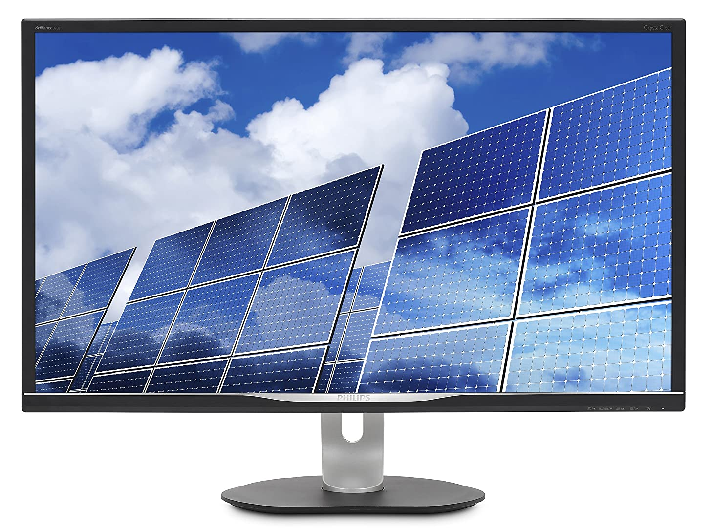 "Philips 328B6QJEB 32"" LCD Monitor, IPS Panel, 2560 x1440 Res, 60Hz, 5ms, VGA, DVI, HDMI, DP, Height/Pivot, Spkrs"
