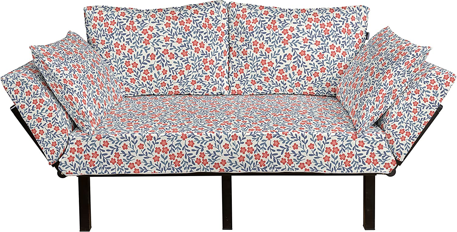 Ambesonne Floral Futon Couch Spring Vintage Free Max 68% OFF shipping anywhere in the nation Warm Imagery with C