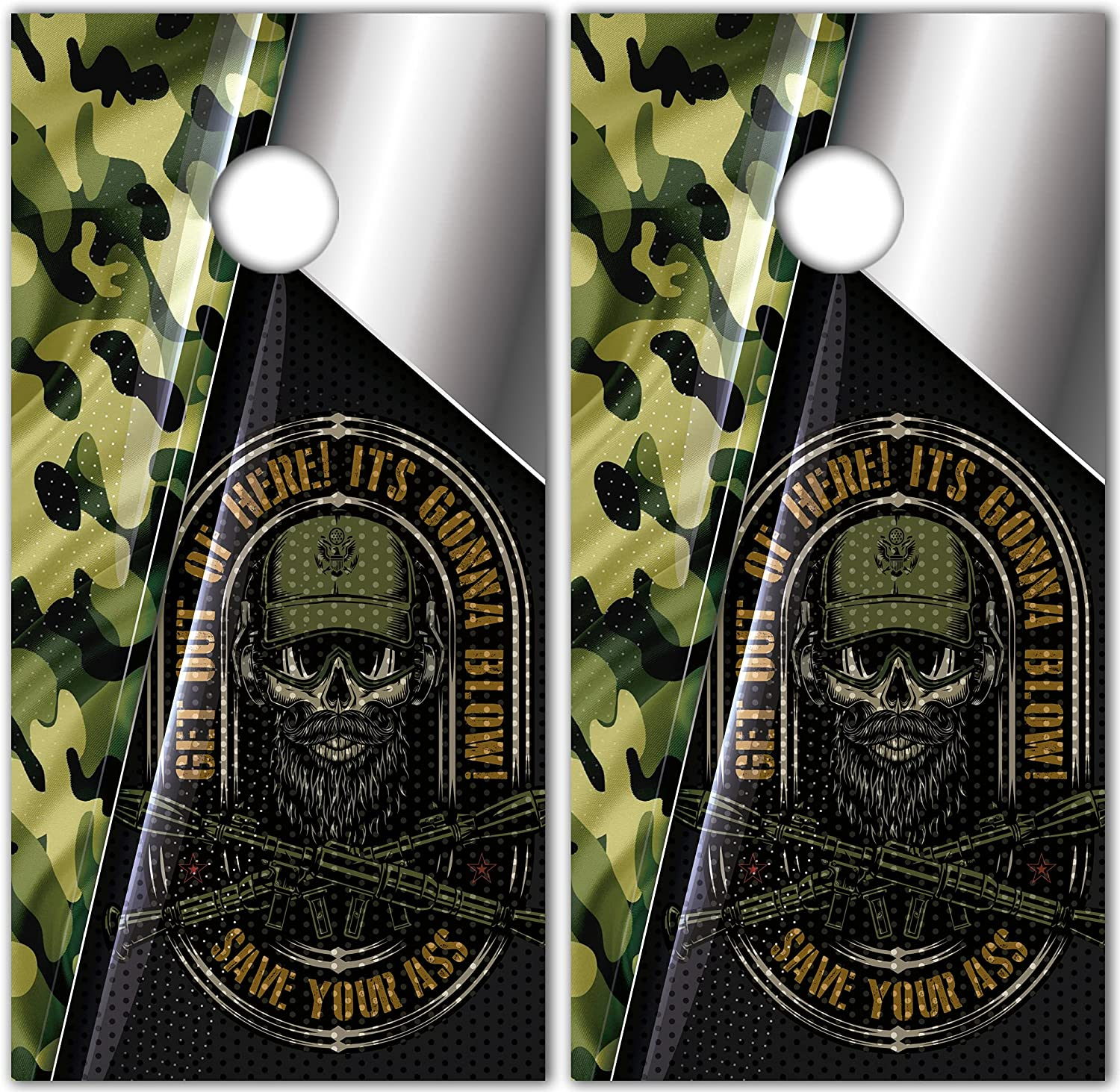 Save Your Miami Mall Ass Military National products Custom Cornhole Sticker Decal 3D Te Wraps