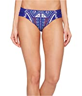 Trina Turk - Jakarta Embroidery Shirred Side Hipster Bottom