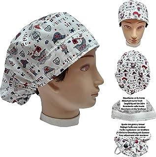 Cappello sala operatoria donna BAMBINI PIRATI per Capelli Lunghi Asciugamano assorbente sulla fronte facilmente regolabile...