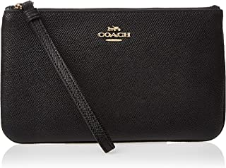 COACH Crossgrain Leather Large Wristlet