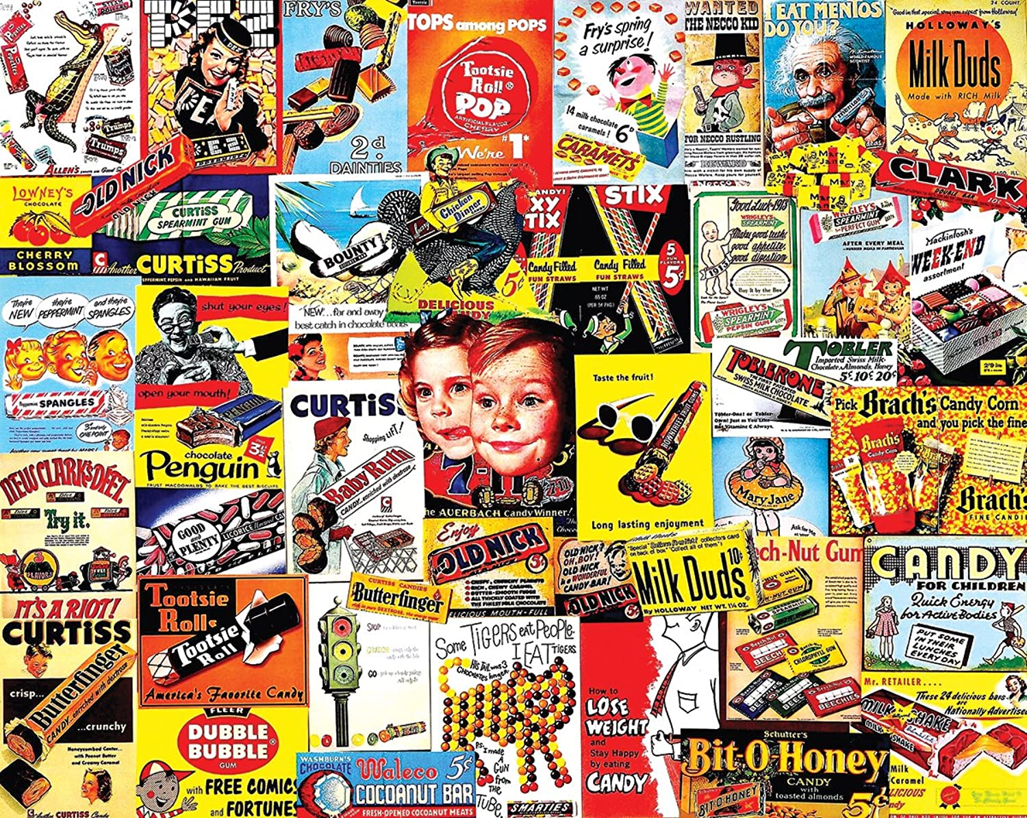 White Mountain Puzzles Old Time Candy Jigsaw Puzzle Puzzle Puzzle