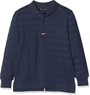 Tommy Hilfiger Essential Back Tape Polo L/S Camisa Manga Larga para Niños