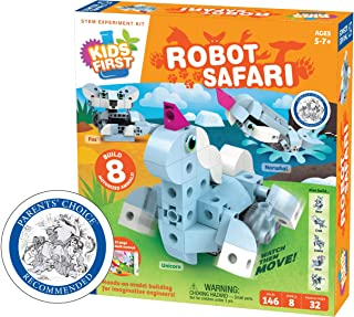Thames & Kosmos Kids First: Robot Safari - Introduction To Motorized Machines Science Experiment Kit For Ages 5 To 7, Buil...