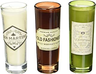 Deco Flair CDL6519 Cocktail Candle Flight, It's 5 o'clock Somewhere, 3 Piece