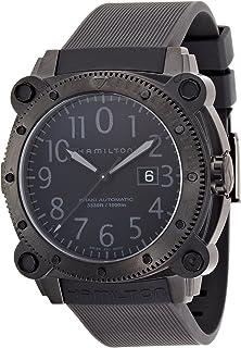 Hamilton - H78585333 Khaki Navy BelowZero Reloj de Esfera Negra para Hombre