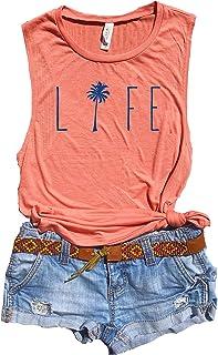 bfa68cc49d7f6e Cute Beach Tank Top, Ocean Life, Beach Life, Beach Lover Gifts for Women