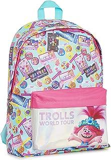 Trolls Mochilas Escolares Juveniles con Poppy Troll, Material Escolar Mochila Niña para Colegio o Viaje, Trolls 2 Gira Mundial Mochila Escolar Oficial, Regalos Originales para Niñas Niños
