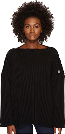 Sportmax - Dina Cold Button Shoulder Oversized Sweater
