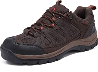 EYUSHIJIA Men's Outdoor Waterproof Lace-up Trekking Hiking Shoes Brown 8
