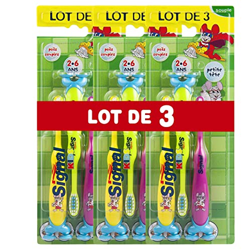 Signal Brosse à Dents Enfants 2-6 Ans x3