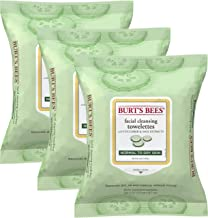 Burt's Bees Sensitive Facial Cleansing Towelettes with Cucumber and Sage - 30 Count (Pack of 3)