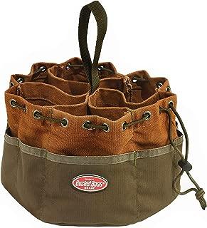 Bucket Boss Parachute Bag Small Parts Bag in Brown, 25001