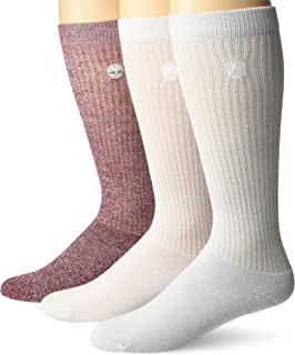 Timberland womens 3-pack Ribbed Full Comfort Boot Socks