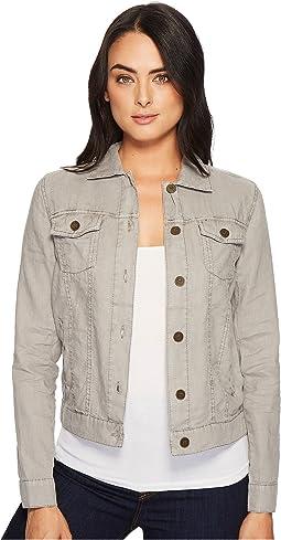 Woven Linen Jean Jacket