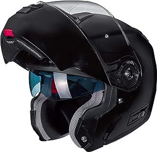 Nexo Klapphelm Motorradhelm Helm Motorrad Mopedhelm Comfort, für Damen und Herren, 1.550 g, kratzfestes Visier, Belüftung, Ratschenverschluss, Diverse Farben und Designs, XS   XL