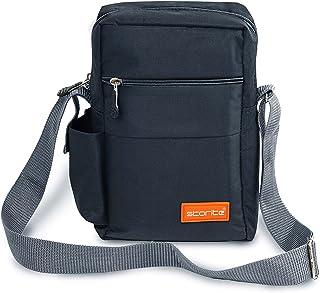 Storite Stylish Nylon Sling Cross Body Travel Office Business Messenger Bag for Men Women (25x16x7.5cm) (Dark Grey)