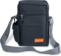 Storite Stylish Nylon Sling Cross Body Travel Office Business Messenger one Side Shoulder Bag for Men Women (25x16x7.5cm) (Dark Grey)