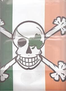 BLARNEY BONES IRISH GARDEN FLAG PIRATE SKELETON CROSSBONES