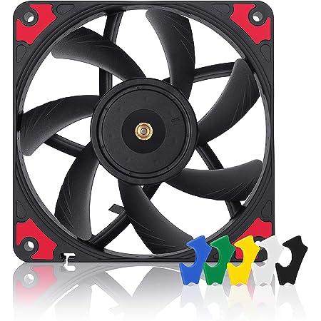 Noctua NF-A12x15 PWM chromax.Black.swap, Premium Quiet Slim Fan, 4-Pin (120x15mm, Black)