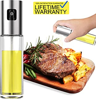 Updated 2019 Version Olive Oil Sprayer Dispenser Mister Bottle For Cooking, BBQ and Air Fryer, Premium Glass Oil Vinegar Soy Sauce Spray for Grilling, Kitchen, Salad, Bread Baking, Frying