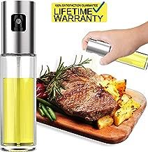 Updated 2019 Version Olive Oil Sprayer Dispenser Mister Bottle For Cooking, BBQ and Air Fryer, Premium Glass Oil Vinegar Soy Sauce Spray for Grilling, Kitchen, Salad, Bread Baking, Frying