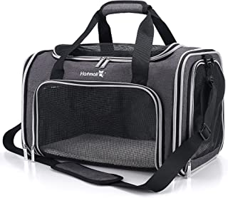 Hafmall Soft-Sided Carriers for Puppy & Medium Cat, Airline Approved Portable Pet Carrier Bag, Foldable Travel Carrier for...