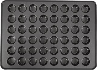 Wilton Perfect Results 48-Cup Non-Stick Mega Mini Muffin and Cupcake Pan, 10004571, Grey, Steel
