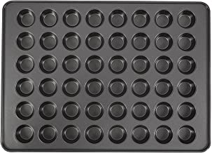 Wilton Perfect Results 48-Cup Non-Stick Mega Mini Muffin and Cupcake Pan, 10004571, Grey, Steel