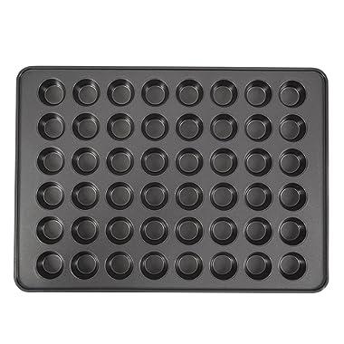 Wilton Perfect Results Non-Stick Mega Mini Cupcake, 48-cup Muffin Pan, black
