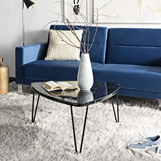 Safavieh Home Collection Jacky Marble and Black Triangle Coffee Table