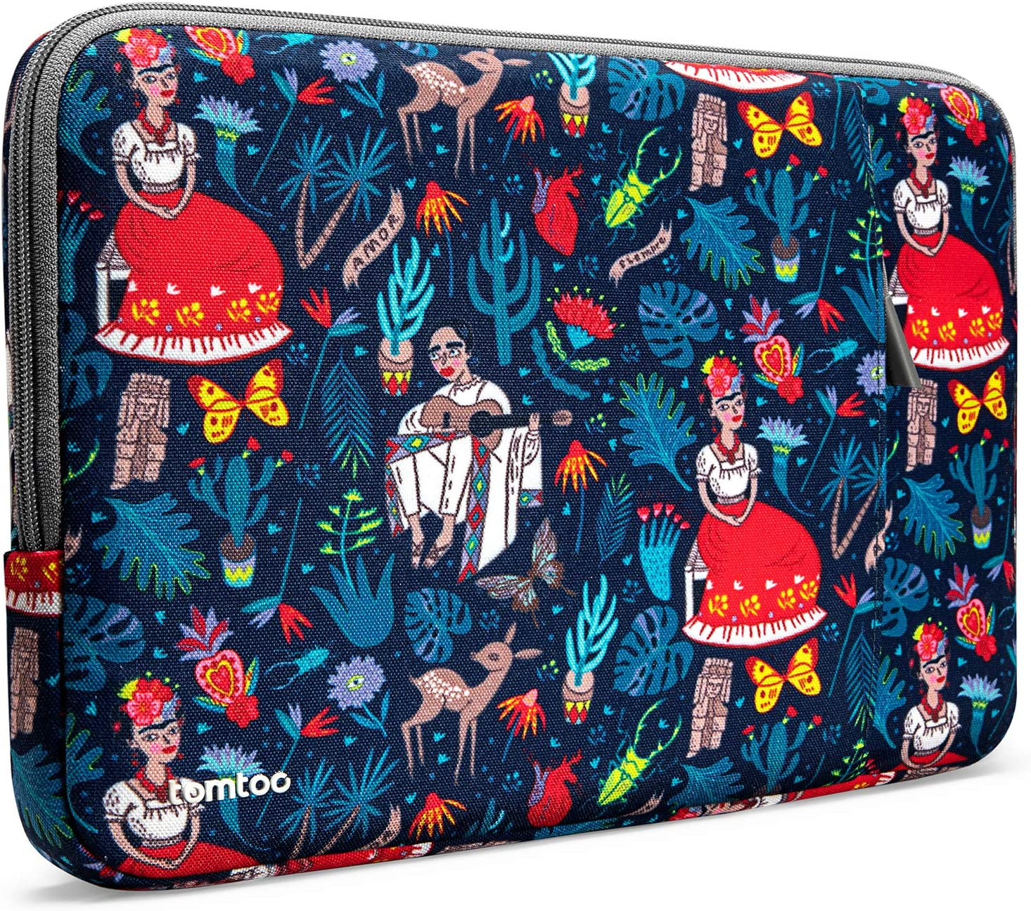tomtoc 360 Protective Laptop Sleeve for 13-inch MacBook Air M1/A2337 A2179 2018-2021, MacBook Pro M1/A2338 A2251 A2289 2016-2021, 12.9 iPad Pro 5th/4th/3rd Gen, Accessory Case with 4 CornerArmors