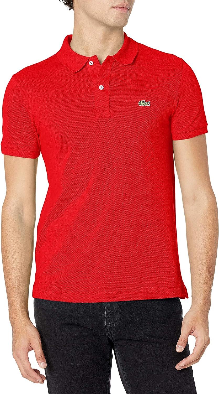絶品 Lacoste Men's Classic Pique Slim Shirt Short Fit Sleeve Polo 爆買い送料無料