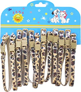 YML Leopard Pattern Pet Collar, Assorted Colors