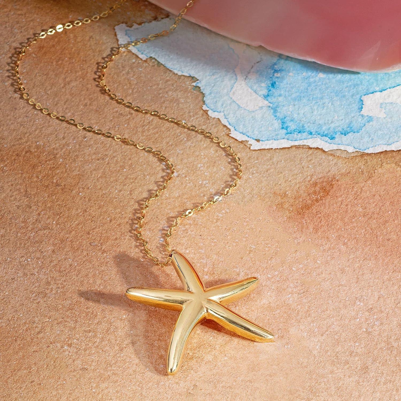 Ross-Simons Italian 14kt Yellow Gold Starfish Pendant Necklace