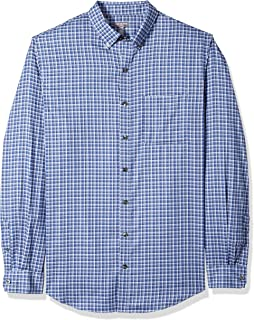 Men's Size Big and Tall Flex Stretch Non Iron Shirt, Blue Barge Check, 4X-Large Tall