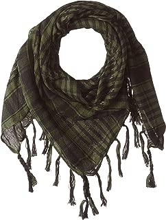 Dhana Style アフガンストール アラブストール チェック柄マフラー スカーフ (グリーン)