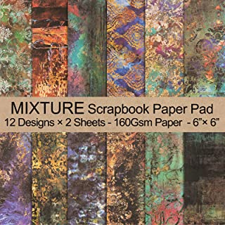 """VONDYU Single-Sided Scrapbook Paper Pad-Colors Mixture Scrapbooking Paper Collection Holiday 6"""" x 6"""" Cardstock Patterned C..."""