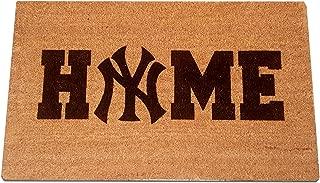 "NEW YORK YANKEES Home Laser Engraved Coir Fiber Welcome Doormat 30"" x 18"""