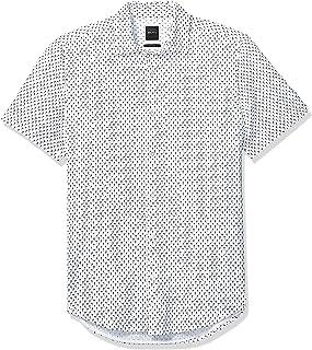Hugo Boss Men's Rash Short Sleeve Button Down Regular Fit Shirt