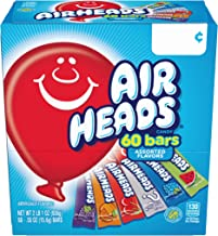 Airheads Candy Bars, Variety Halloween Bulk Box, Chewy Full Size Fruit Taffy, Back to School for Kids, Non Melting, Party 60 Count (Packaging May Vary)