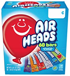 Airheads Candy Bars, Variety Halloween Bulk Box, Chewy Full Size Fruit Taffy, Back to School for Kid